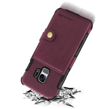 Load image into Gallery viewer, Retro PU Leather Pouch Back Case For Samsung Galaxy S9/S9 Plus