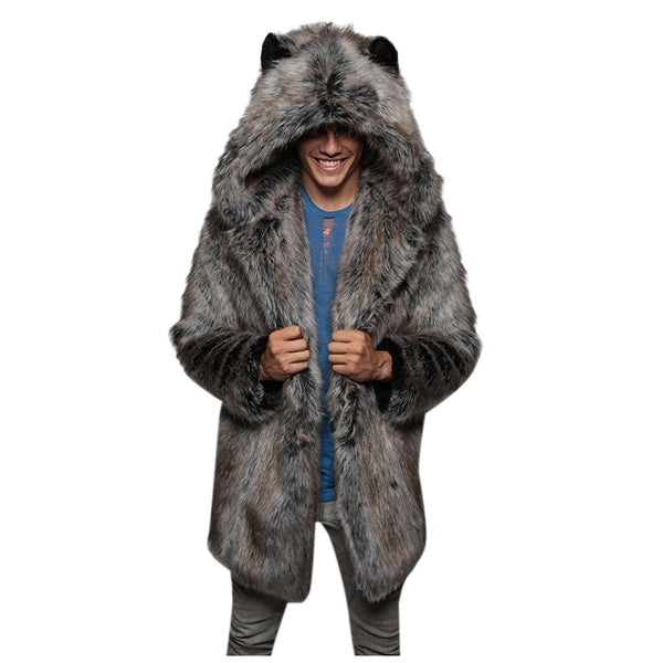 Winter Male Fur Overcoat With Hood(BUY 2PCS TO GET 10% OFF)