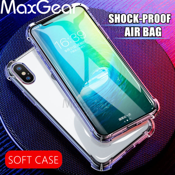 Ultra Thin Clear Shockproof Silicon Cover for iPhone X