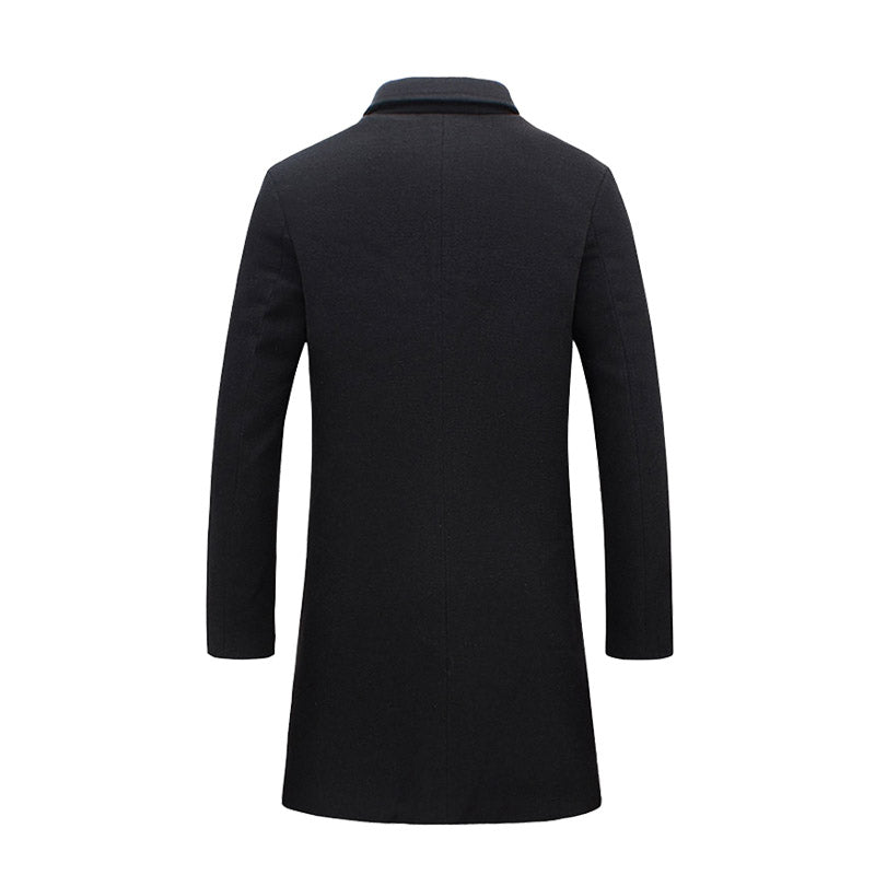 Plus Size Business Slim Fits Mens Long Winter Windproof Outwears