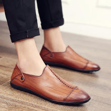Load image into Gallery viewer, Casual Split Leather Oxford Flats Shoes