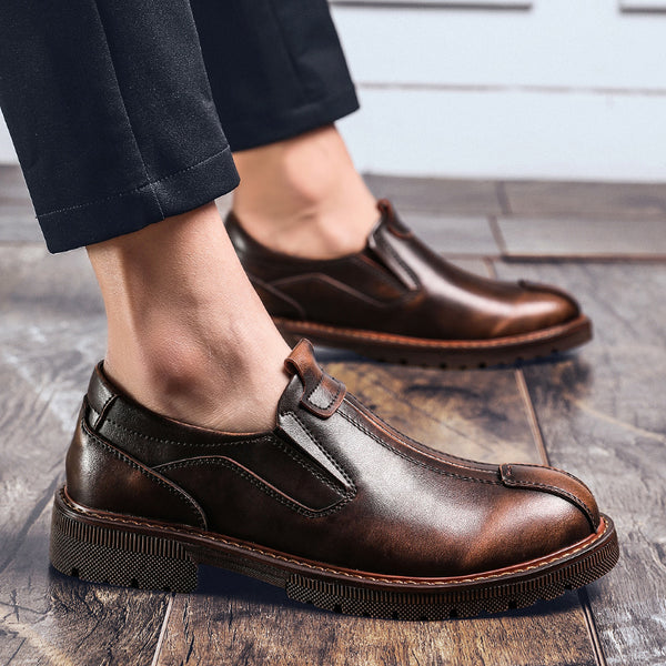 Business Genuine Leather Men Oxfords Bullock Shoes(BUY 2 TO GET 10% OFF)