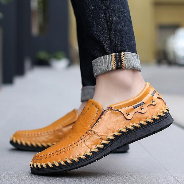 Men's Genuine Leather Handmade Driving Shoes