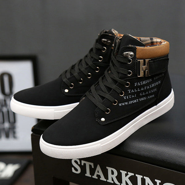 dda5379578e Men Winter Warm Lace-Up Casual Ankle Boots