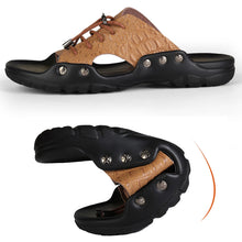 Load image into Gallery viewer, Comfortable Lace Up Casual Men Slippers