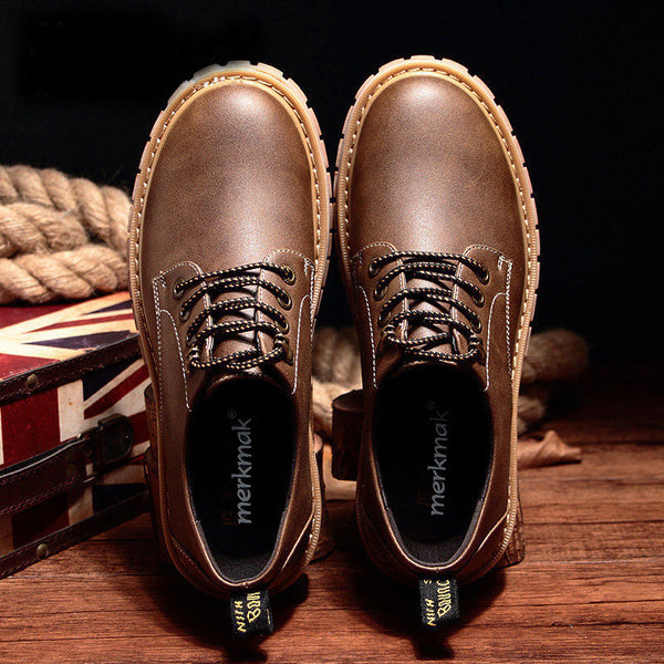 Luxury Classic Waterproof Martin Outdoor Men Leather Shoes
