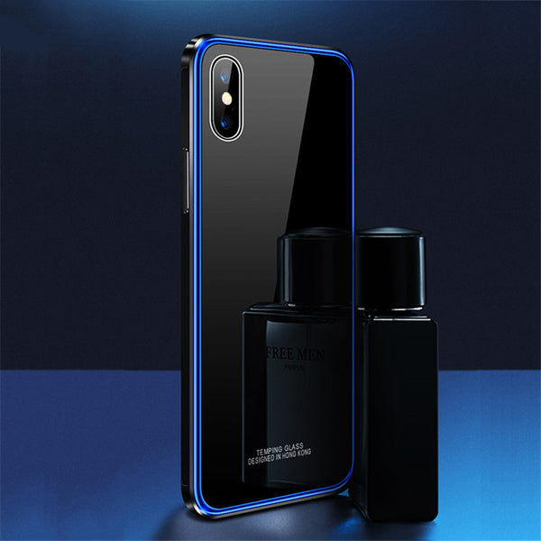 Luxury Metal Bumper & Tempered Glass Cases for iPhone X/7/8 Plus(BUY 2PCS TO GET 15% OFF)