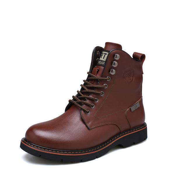 Original Solid Leather Business Low Ankle Men's Martin Boots