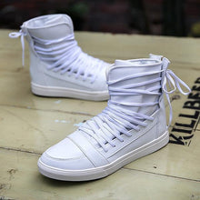Load image into Gallery viewer, Shoes - Lace Up Breathable Hip Hop PU Leather Men Shoes