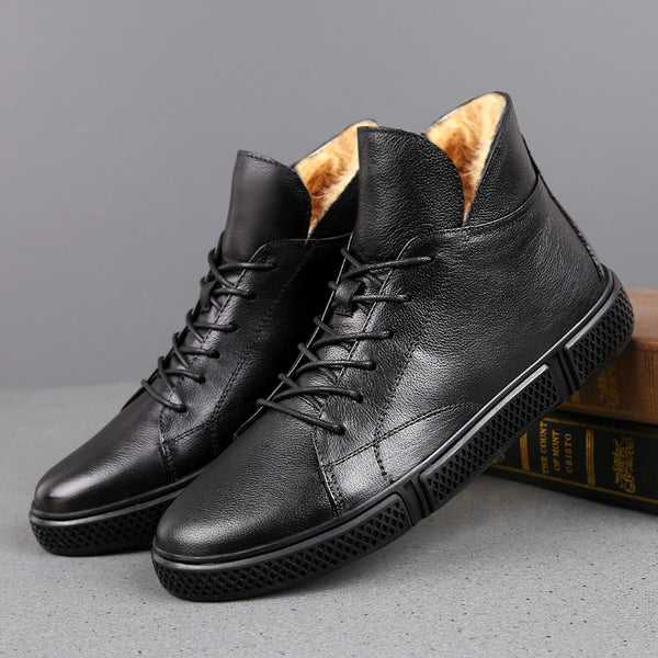 Plus Size Genuine Leather Men Warm Fur Boots(BUY 2 TO GET 10% OFF)