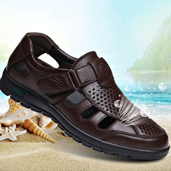 2019 Leisure Men Genuine Leather Cowhide Sandals(BUY 2 TO GET 10% OFF)