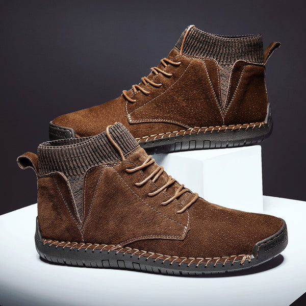 Plus Size Winter Men Suede Leather Boots