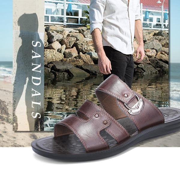 Men's summer Genuine leather beach slippers(BUY 2 TO GET 10% OFF)
