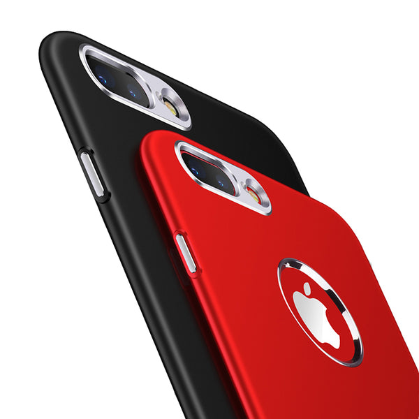 Luxury Soft Silicone + Metal Bumper Case For Iphone