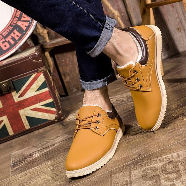 Men's Casual Leather Winter Ankle Boots