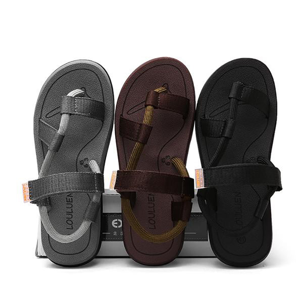 Men's Outdoor Fashion Beach Shoes Casual Breathable Summer Slip On Flip Flops Sandals