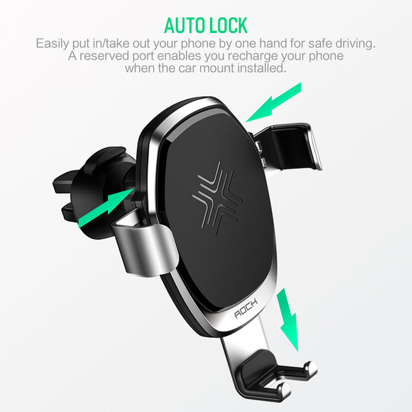 Metal Gravity Car Holder Wireless Charger for iPhone X 8 Plus  Samsung Galaxy S8 Note 8