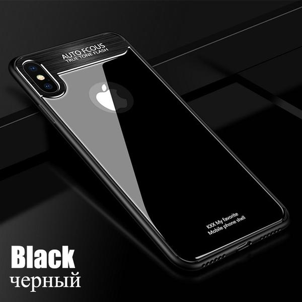 Hard 9H Glass Case for iPhone X 10