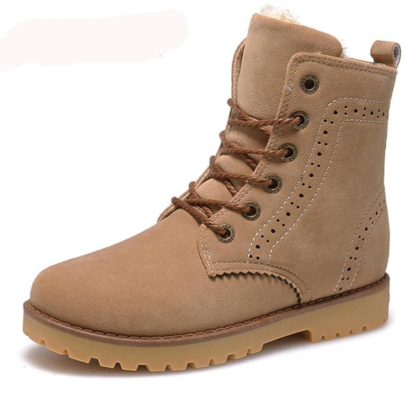 Hot Sale Suede PU Leather Lovers Casual Snow Boots