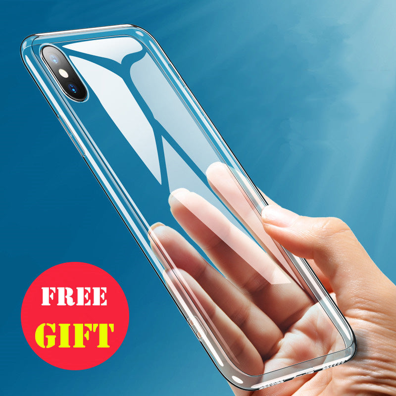 Simple Ultra Thin Transparent Case For iPhone 5s 6s 6 7 8 Plus