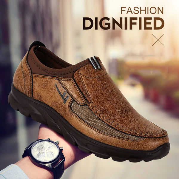 Plus Size Men Slip On Leather Shoes(BUY 2PCS TO GET 10% OFF)