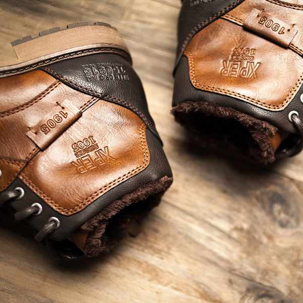 Vintage Winter Warm Plush Waterproof Motorcycle Boots(BUY 2 TO GET 10% OFF)