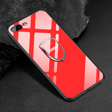 Load image into Gallery viewer, New Style Glass & Silicon Case With Magnetic Holder For IPhone 78/78 plus