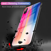 Load image into Gallery viewer, New Gradient laser Tempered Glass And Soft TPU Back Phone Cases For IPhone 7 6 8 X