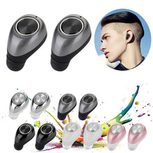 Load image into Gallery viewer, Earphone - Super Mini Double Ear Wireless Stereo Earphones With Mic