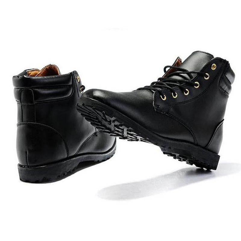 Hot Sale Fashion Solid PU Leather Boots