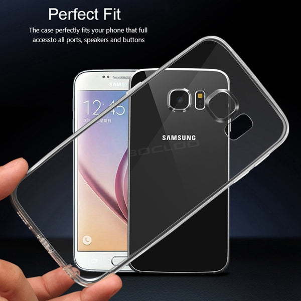 Transparent Phone Back Cover Soft TPU Cases For Samsung