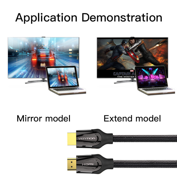 HDMI 2.0 4k 3D 60FPS Cable for HD TV LCD Laptop PS3 Projector Computer