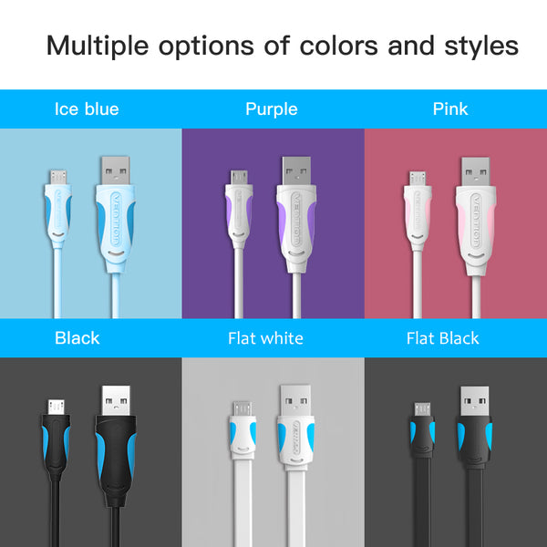 Fast Charging Data Sync Charger Micro Cable 3M 2M 1M For Samsung