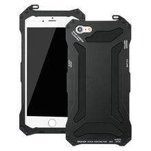 Load image into Gallery viewer, Metal Aluminum Armor Hard Case For iPhone + Tempered Glass