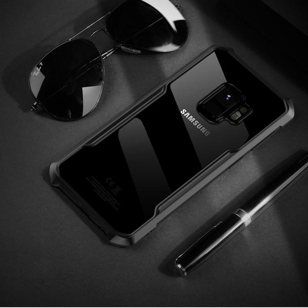 Luxury Airbag Dropping Clear TPU Acylic Shockproof Back Case for Galaxy