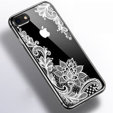 Load image into Gallery viewer, Luxury Lace Silicone Soft  Phone Case For iPhone