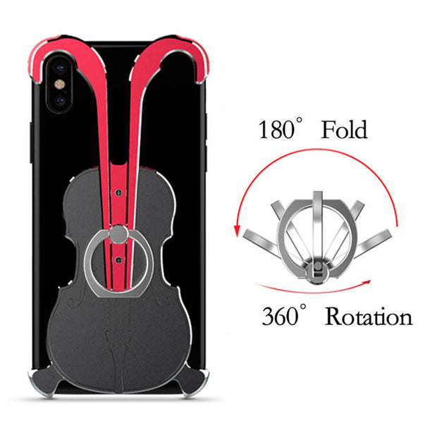 Violin Aluminum Alloy Phone border Case For iPhone