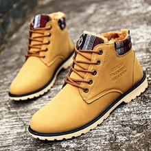Load image into Gallery viewer, High Top Fashion Men Boots Warm Waterproof Military Winter Boots