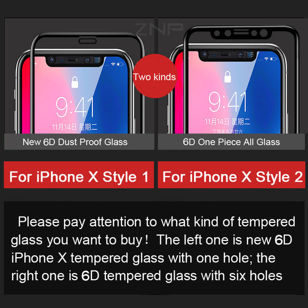 5D Curved Premium Tempered Glass For iPhone X 8 8 Plus 7 6S 6