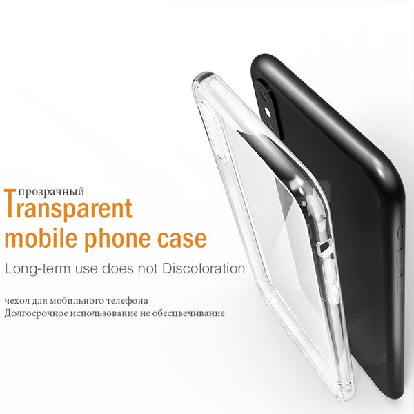 Luxury Ultra Thin Transparent Silicone Case For iphone