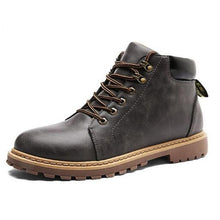 Load image into Gallery viewer, Vintage Men Boots Lace-Up Autumn Leather Martin Boots