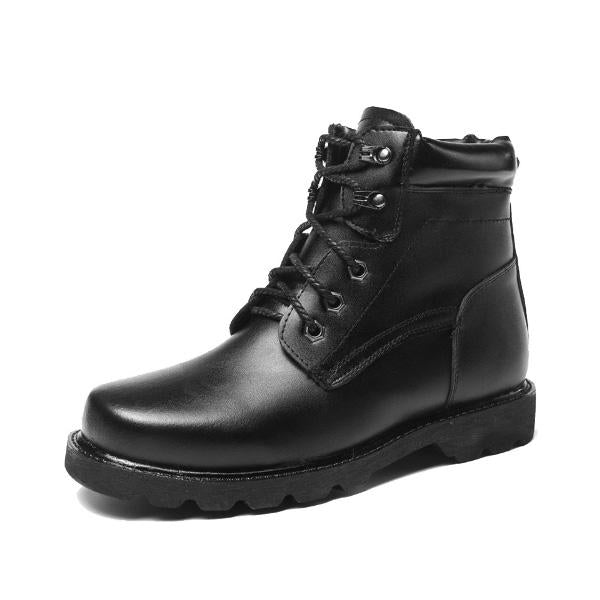 Wool Men Winter Leather Snow Boots
