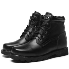 Load image into Gallery viewer, Wool Men Winter Leather Snow Boots