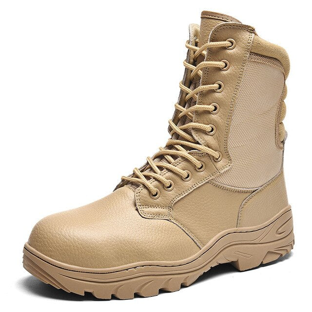 Waterproof Work Safety Men Military Genuine Leather Boots(BUY 2PCS TO GET 10% OFF)