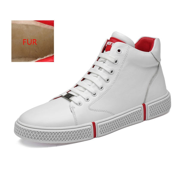 White Sneakers Men Genuine Leather Comfortable Casual Shoes(BUY 2PCS TO GET 10% OFF)