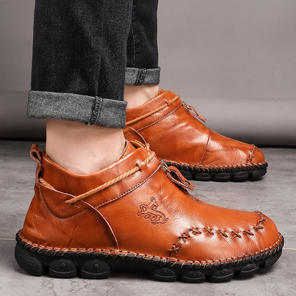 Autumn Comfortable Men Leather Ankle Boot