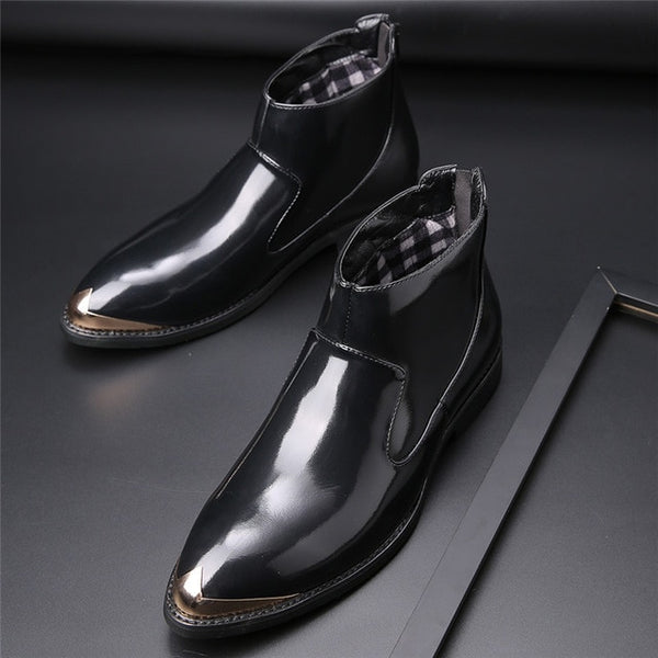 Autumn Zipper Men's Formal Pointed Leather Boots(BUY 2PCS TO GET 10% OFF)