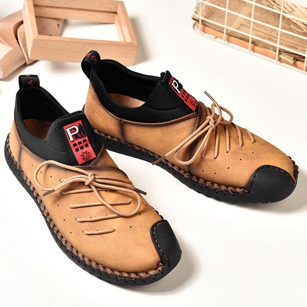 Plus Size Handmade Leather Casual Moccasins(BUY 2PCS TO GET 10% OFF)