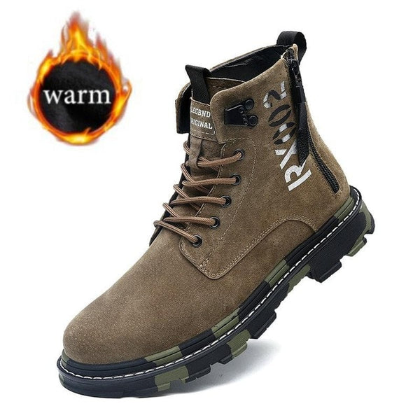 Motorcycle Leather Men Camouflage Martin Boots(BUY 2PCS TO GET 10% OFF)