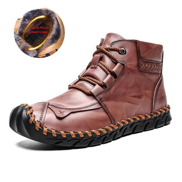 Waterproof Leather Men Warm Ankle Boots(BUY 2PCS TO GET 10% OFF)